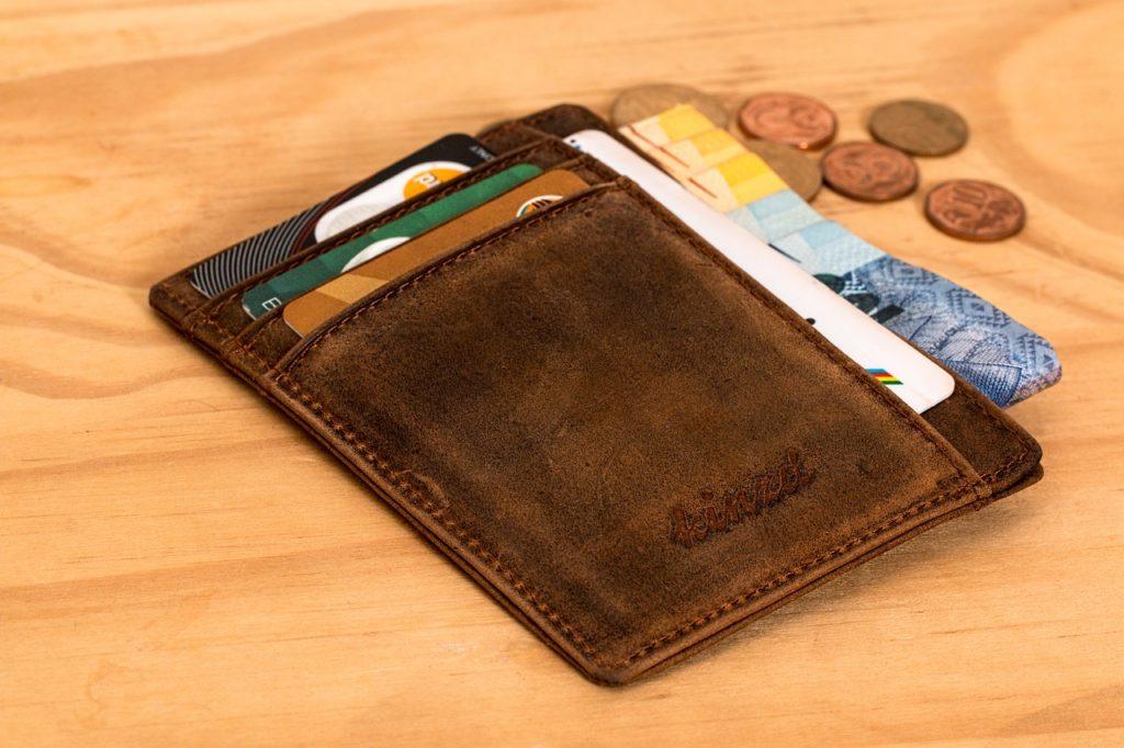 お財布とコイン