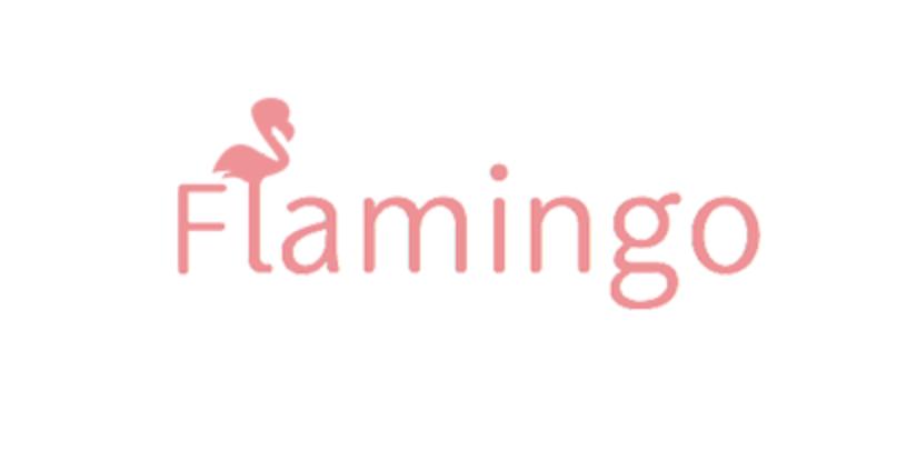 フラミンゴのロゴ(ピンク)