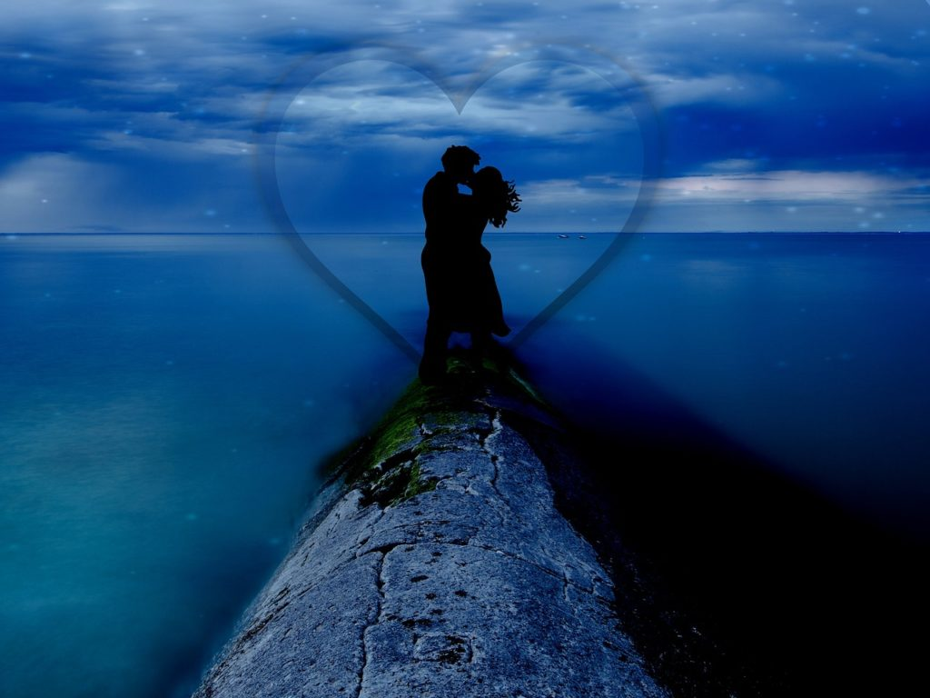 ロマンチックなカップル