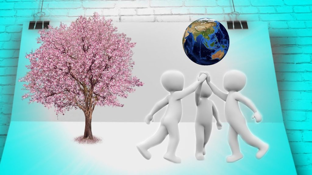 桜と地球と人