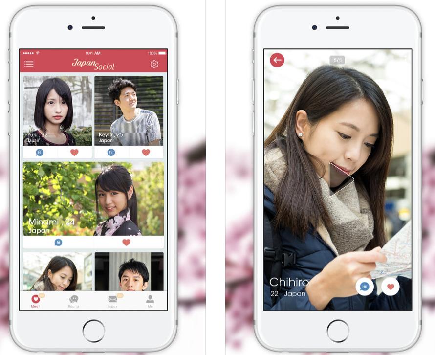 japansocialのアプリ画面